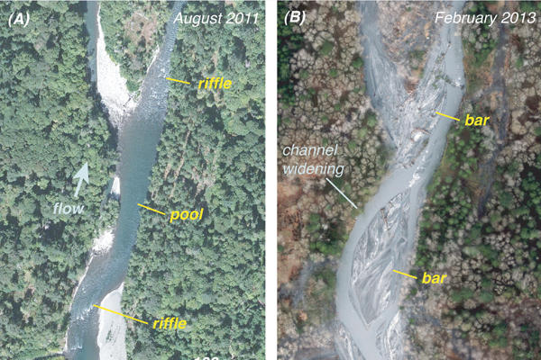 dam removal Aerial images of the Elwha River. (Credit: Andy Ritchie / National Park Service)