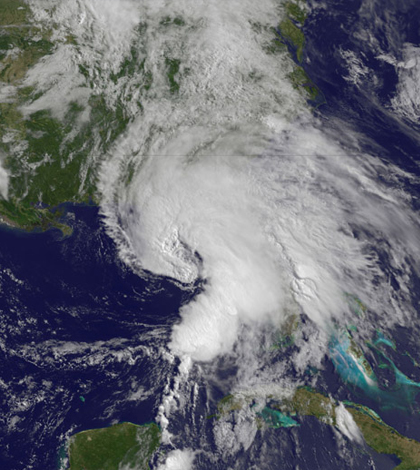 NASA's TRMM satellite captures images of heavy rainfall in Tropical Storm Andrea. (Credit: NASA Goddard Space Flight Center)