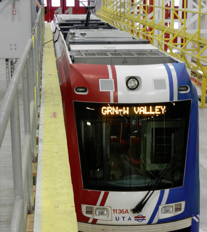 Researchers at the University of Utah are attaching air quality sensors to subway cars to get a better look at pollution. (Credit: Logan Mitchell)