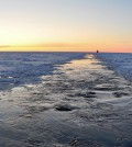 Arcitc sea ice hit a record low, exposing more open ocean. (Credit: USGS)