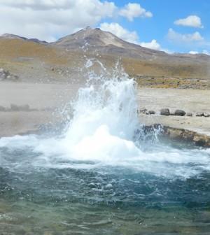 A geyser studied by UC Berkeley scientists. (Credit: University of California, Berkeley)