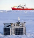 One of the dozens of probes sent out last summer to monitor arctic ice. (Credit: Martin Doble / University of Washington)