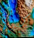 A seafloor gateway may allow warm ocean water to flow underneath glaciers. (Credit: Jamin Greenbaum)