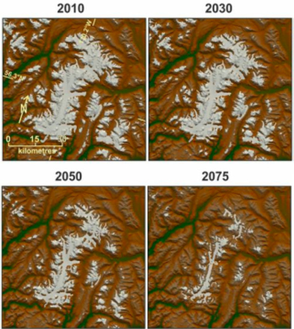 Glaciers are expected to retreat over time. (Credit: Garry Clarke)