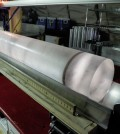 An ice core from the West Antarctic Ice Sheet Divide project. (Credit: Heidi Roop / NSF)