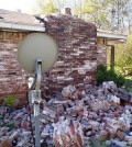 A home damaged from an earthquake in central Oklahoma. (Credit: USGS)
