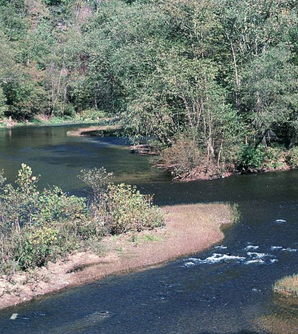 The Elk River was the site of a chemical spill in January 2014. (Credit: Stihler Craig / USFWS)