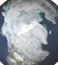 Arctic ice reached its lowest peak level since 1978. (Credit: NASA)