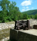 The remains of the Briggsville Dam following its removal. (Credit: Martha Naley / U.S. Fish and Wildlife Service)