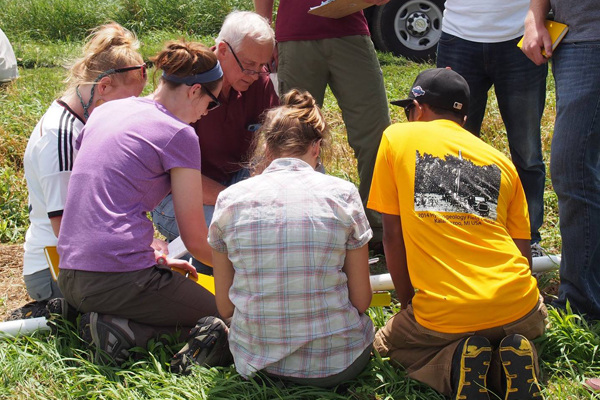 Western Michigan students learn the ins and outs of groundwater and soil sampling, as well as hazard response preparation. (Credit: Tom Howe, Western Michigan University)