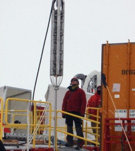 Moving the drilling equipment used to bore through half a mile of Antarctic ice required massive machinery and the majority of the three-month field season. (Credit: WISSARD)