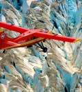 Operation IceBridge Alaska flies a lidar survey over the glaciers. (Credit: Chris Larsen)