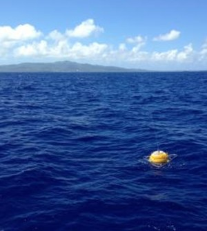 PacIOOS wave buoy off Tanapag, Saipan. (Courtesy of the University of Hawaii)