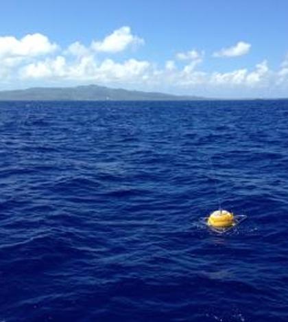 PacIOOS wave buoy off Tanapag, Saipan. (Courtesy of the University of Hawaii)