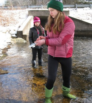 TeenShale, a part of the Shale Network, collected samples and recorded data from Black Moshannon State Park. (Credit: Matt Carroll)