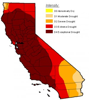 Status of the drought in California as of October 21, 2014. (Credit: Michael Brewer / NDCD/NOAA)