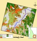 Landsat 8 imagery is helping scientists discover increasing wildfire susceptibility in Idaho. (Credit: Idaho State University)