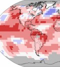 Land and ocean temperature percentiles July 2015. (Credit: NOAA)