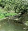 Cedar Creek is a typical intermittent stream with flow rates changing drastically from year to year. (Credit: USGS)