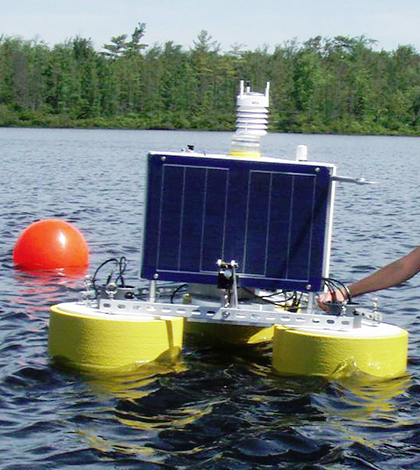 Lake Lacawac is home to many monitoring efforts including a new research lab for members of GLEON and students at Miami University. (Courtesy of Miami University)