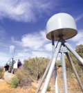 GPS tower used to collect seismic data. (Credit: Scripps Institution of Oceanography)