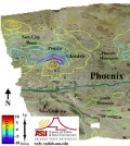 Groundwater pumping is changing surface levels in Phoenix. (Credit: ASU)