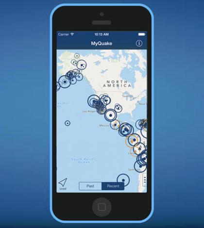 MyQuake smartphone app. (Courtesy of the University of California Berkeley)