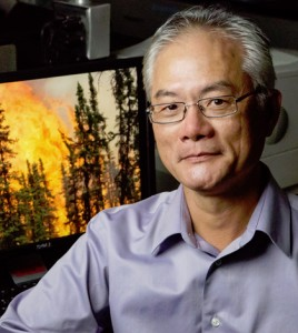 Professor Feng Sheng Hu led a study of carbon cycling and forest fires in the boreal forests of the Yukon Flats in Alaska. (Credit: L. Brian Stauffer)