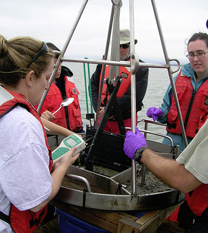 Researchers look for the source of contaminants in the San Francisco Bay. (Credit: University of Minnesota College of Science and Engineering)