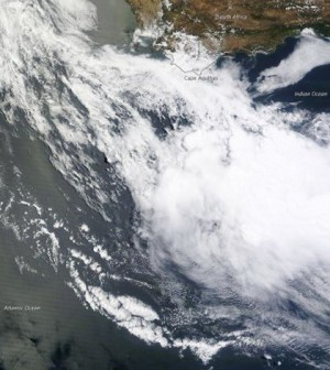 The dead zones found are similar to the one pictured from the Moderate Resolution Imaging Spectroradiometer on NASA's Terra satellite in late 2011. (Credit: NASA Earth Observatory)