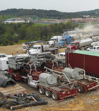 A fracking operation on the Marcellus Shale Formation in Pennsylvania. (Credit: Public Domain)