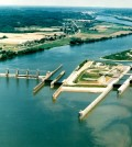 R.C. Byrd Locks and Dam of Ohio River. (Credit: USACE)