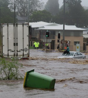 Flooded street in Australia from 2011. (Credit: Kingbob86/CC BY 2.0)