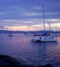 Boats moored on Lake Champlain. (Credit: Travisleehardin via Creative Commons 3.0)