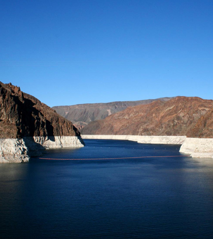 The Colorado River supplies water to Lake Mead, pictured here. (Credti: U.S. Geological Survey)