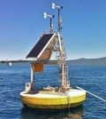 The world's lakes are warming, so scientists are looking to collect comprehensive data with buoy-based monitoring systems, satellites and more. (Credit: LimnoTech)