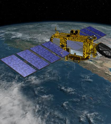 Rendering of the Jason-3 satellite. (Credit: NASA Jet Propulsion Laboratory)