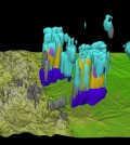 Scientists used the supercomputer to develop this 3-D rendering of a major thunderstorm from July 2011. (Credit: David Gochis / NCAR)