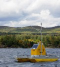 Water quality buoy on Lake George. (Credit: Rensselaer Polytechnic Institute)