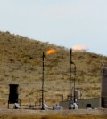 Oil and gas well flaring gas in northeast Colorado. (Credit: WildEarth Guardians via Creative Commons 2.0)
