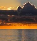 Ocean sunset. (Credit: Public Domain)