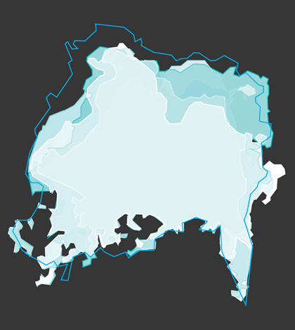 Polar Ice infographic. (Credit: Nate Christopher / Fondriest Environmental)