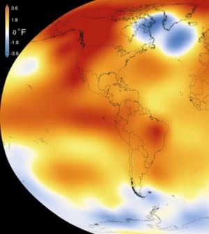 2015 was the warmest year since modern record-keeping began in 1880. (Credit: Scientific Visualization Studio / Goddard Space Flight Center)