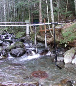 This station on Hard Creek supplied some of the study's small stream data. (Credit: Weyerhaeuser)