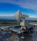 CSU radar researchers installed a scanning X-band radar at the Penitencia water treatment plant in San Jose, California. (Credit: Francesc Junyent)