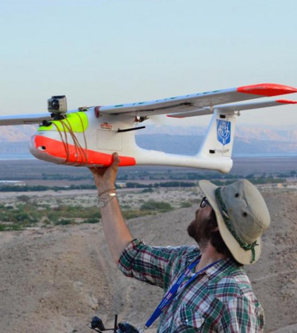 Depaul University scientists are using drones to survey an ancient burial site in southern Jordan. (Credit: Morag Kersel)