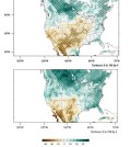 Sample maps show different North American climate model scenarios. (Credit: Argonne National Laboratory)
