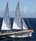 Tara Expeditions schooner. (Credit: European Molecular Biology Laboratory)