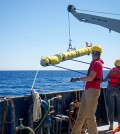 Researchers demonstrate autonomous underwater vehicles can be pre-programmed to make independent decisions. (Credit: University of Delaware)