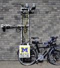 The bicycle-mounted weather station built by Nick Rajkovich. (Credit: Nick Rajkovich / University at Buffalo)
